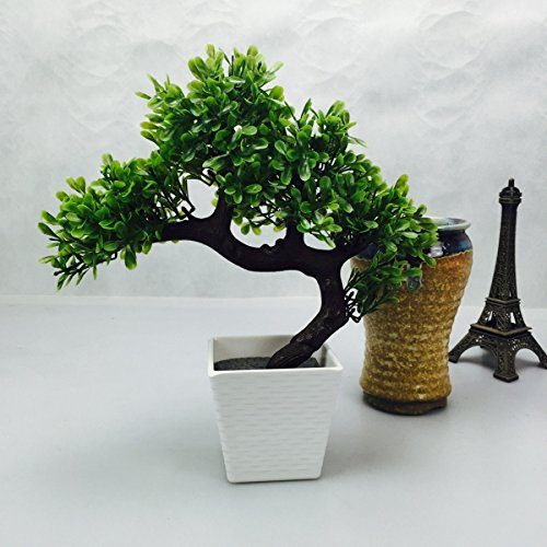 artificial japanese zen bonsai tree home planet with pot perfect for a desk table office home or shelf decoration bonsai tree office
